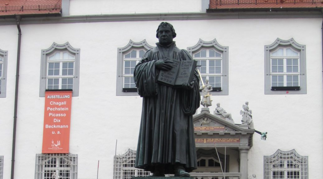 Martin Luther Denkmal in Wittenberg