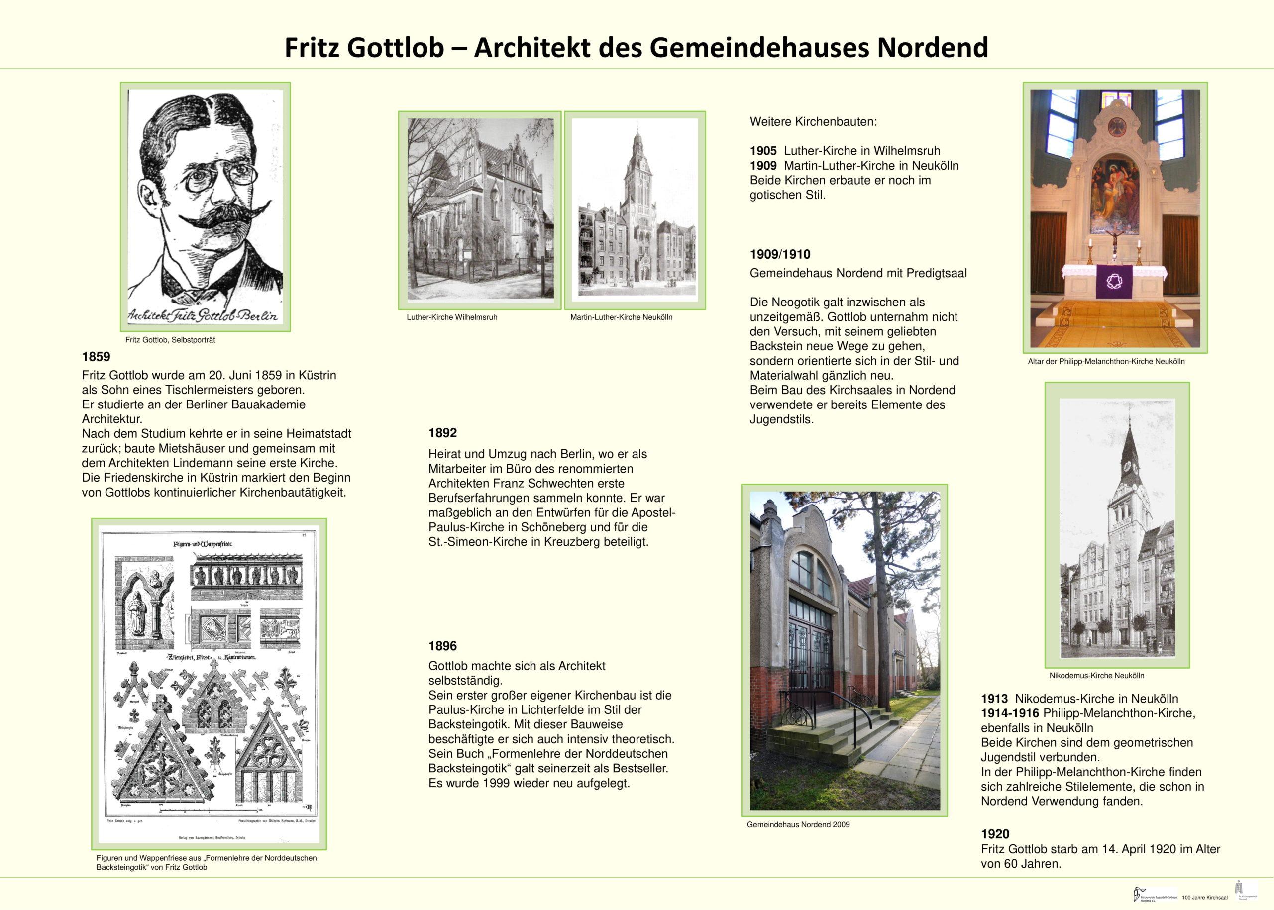 Fritz Gottlob – Architekt des Gemeindehauses Nordend
